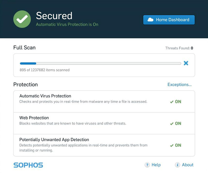 Sophos Home免費家用版防毒軟體