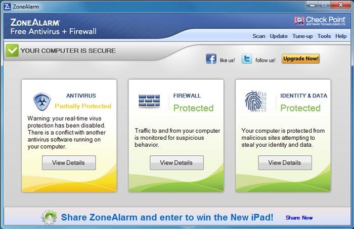 ZoneAlarm Free Firewall – 功能強大且免費的個人防毒和防火牆軟體